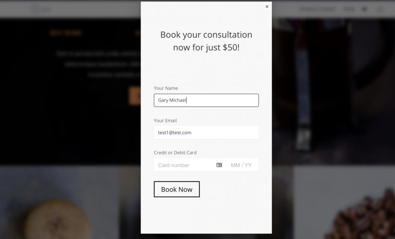 Create Modal Popup Payment Forms with Divi in Less than 5 Minutes